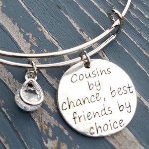 Jewelry - Cousin bracelet, best friend bracelet, charm